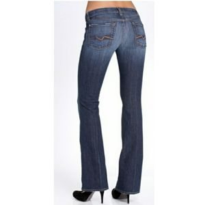 7 For All Mankind Flare Medium Wash Jean 28